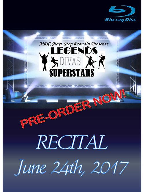 MDC Next Step 2017 Recital Blu-Ray Disc - Shipped to studio