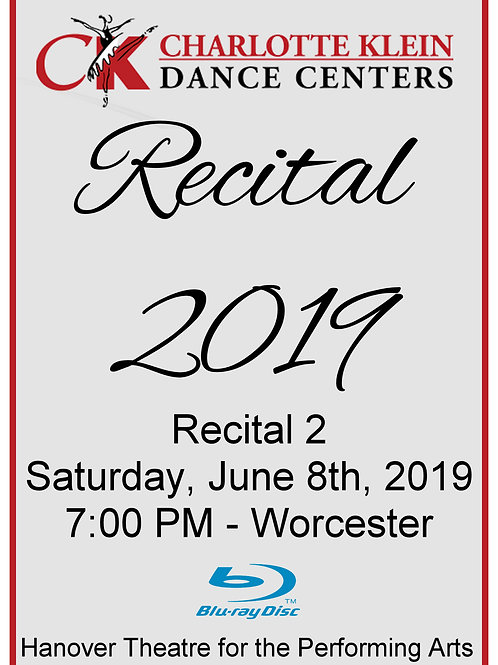 CKDC Recital 2 Blu-Ray - Sat., 6/8/19 - 7PM - Shipping Included