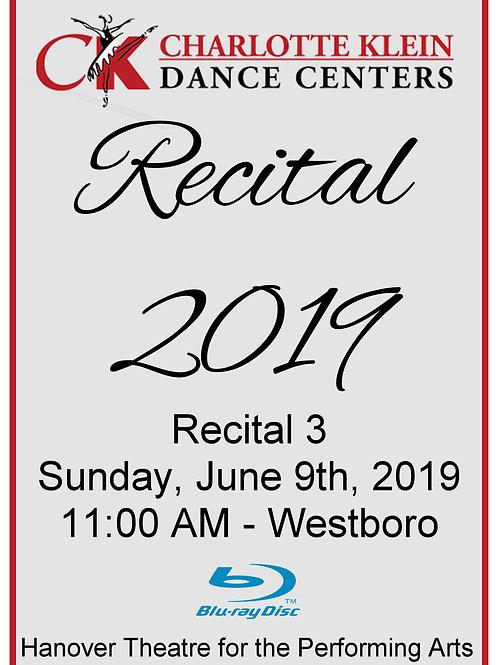CKDC Recital 3 Blu-Ray - Sun., 6/9/19 - 11:00 AM - Shipping Included