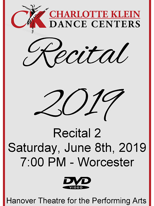 CKDC Recital 2 DVD - Sat., 6/8/19 - 7PM - Shipping Included
