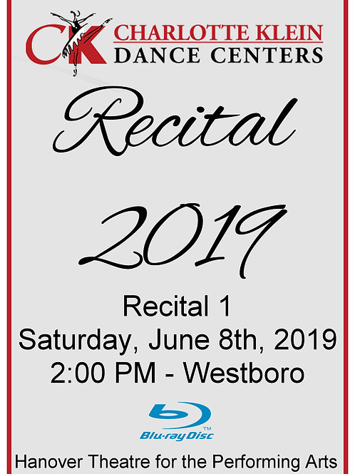 CKDC Recital 1 Blu-Ray - Sat., 6/8/19 - 2PM - Shipping Included