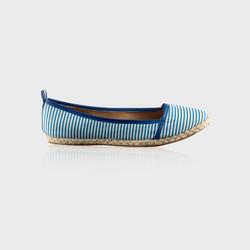Stripey Blue Flats