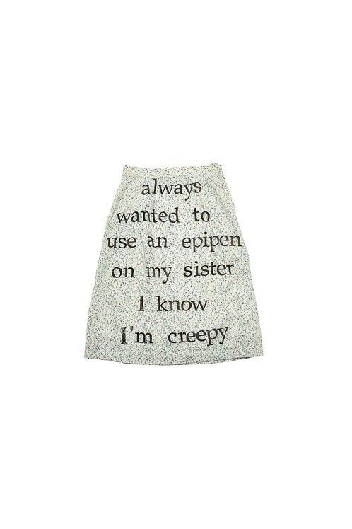 I Know I'm Creepy Greeting Card
