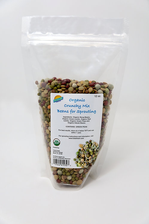 Organic Crunchy Mix Beans for Sprouting 12oz