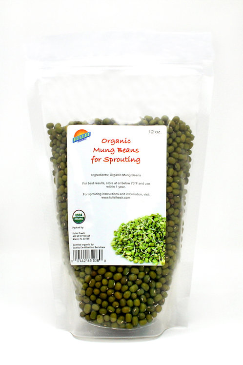 Organic Mung Bean Seeds 12oz