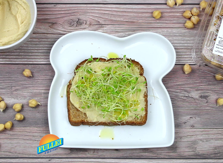 Clover Sprouts & Hummus Toast