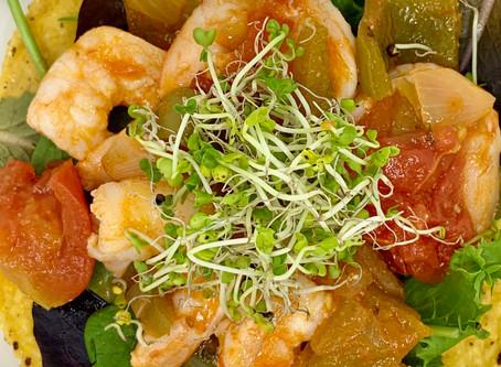 Shrimp Tostada (with a vegan option)