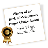 sara knoll - winner of the bank of melbourne's people choice award 2013
