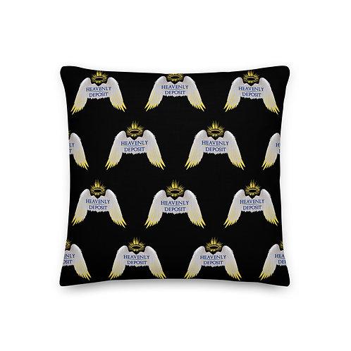 Designer Heavenly Deposit Throw Pillow 19 inch - Black