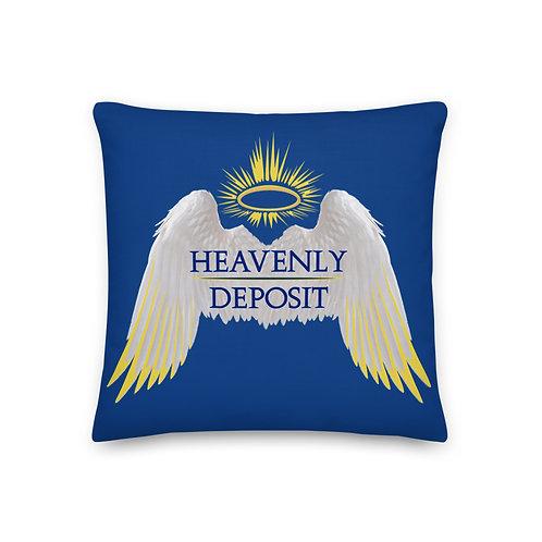 Heavenly Deposit Throw Pillow 19 inch - Dark Cerulean