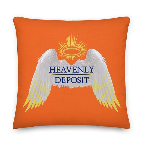 Heavenly Deposit Throw Pillow 22 inch - Orange