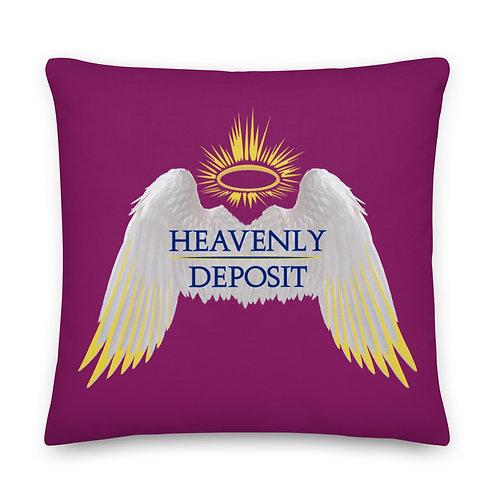 Heavenly Deposit Throw Pillow 22 inch - Eggplant