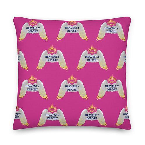 Designer Heavenly Deposit Throw Pillow 22 inch - Deep Cerise