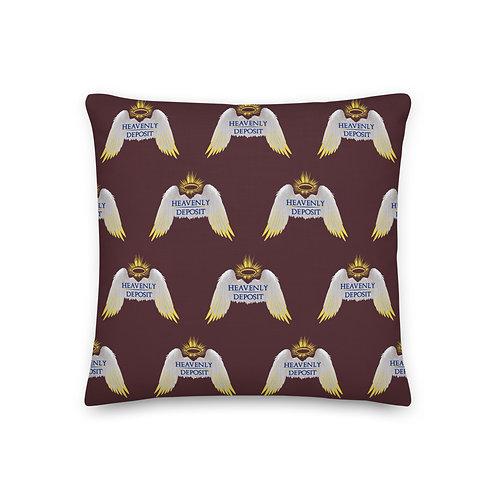 Designer Heavenly Deposit Throw Pillow 19 inch - Cab Sav