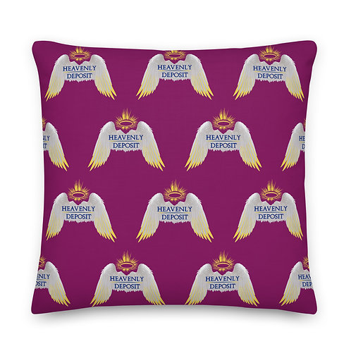 Designer Heavenly Deposit Throw Pillow 22 inch - Eggplant