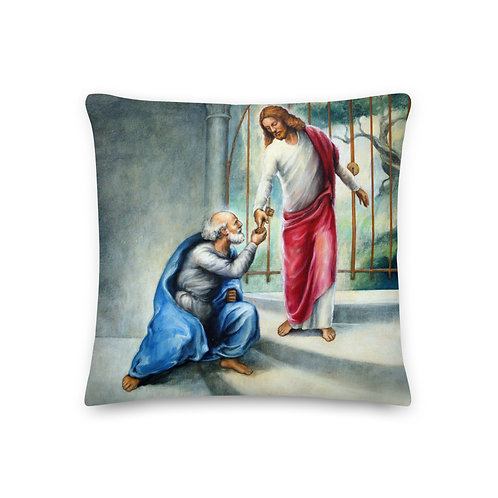 Froly Back - 19 inch Keys To The Kingdom Throw Pillow