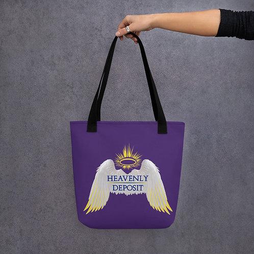 Heavenly Deposit Tote - Purple