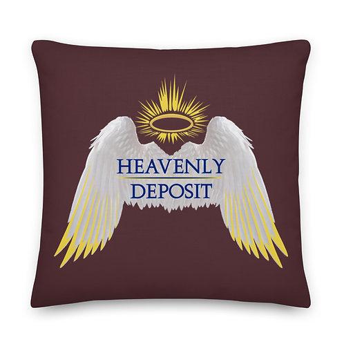 Heavenly Deposit Throw Pillow 22 inch - Cab Sav