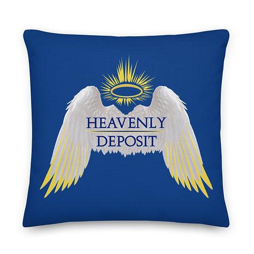 Heavenly Deposit Throw Pillow 22 inch - Dark Cerulean