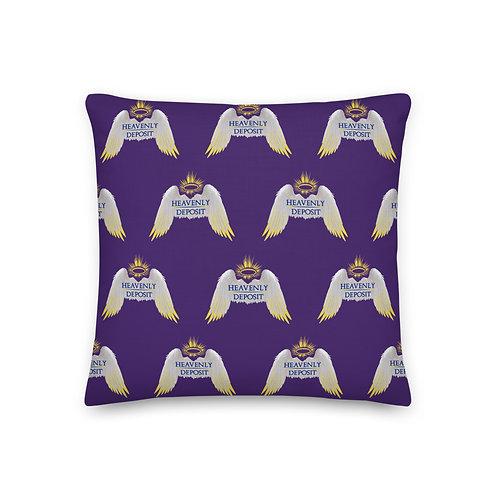 Designer Heavenly Deposit Throw Pillow 19 inch - Purple