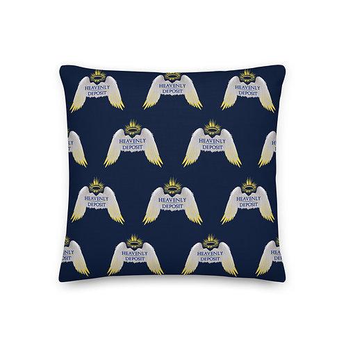 Designer Heavenly Deposit Throw Pillow 19 inch - Navy