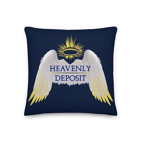 Heavenly Deposit Throw Pillow 19 inch - Navy