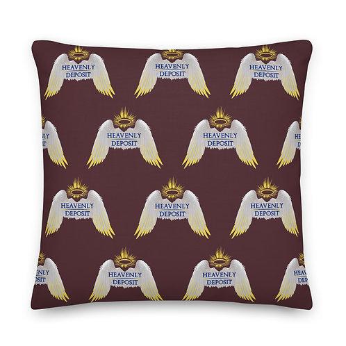 Designer Heavenly Deposit Throw Pillow 22 inch - Cab Sav
