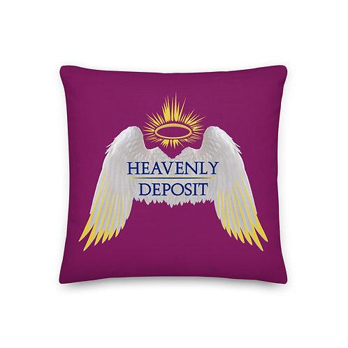 Heavenly Deposit Throw Pillow 19 inch - Eggplant