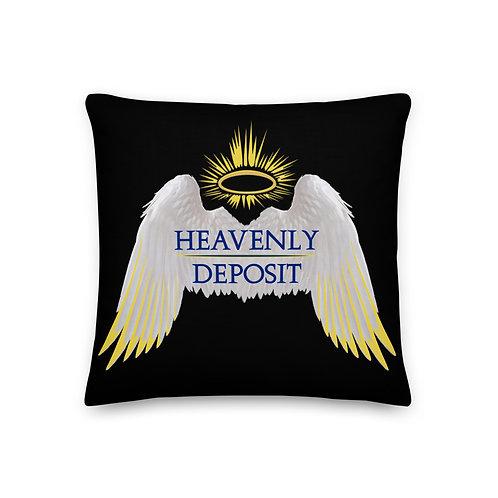 Heavenly Deposit Throw Pillow - 19 inch - Black
