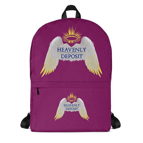 Trendy Heavenly Deposit Backpack - Eggplant