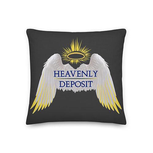 Heavenly Deposit Logo Throw Pillow 19 inch - Eclipse