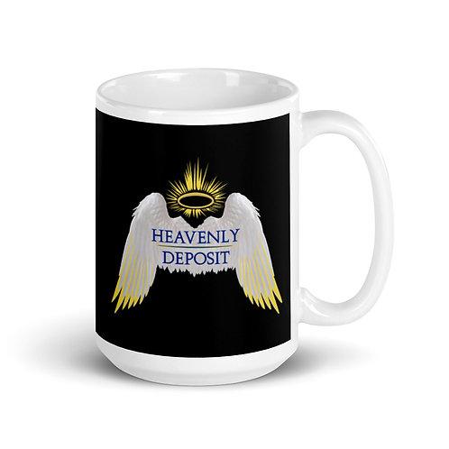 Heavenly Deposit 15 oz Mug - Black