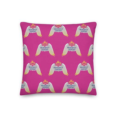 Designer Heavenly Deposit Throw Pillow 19 inch - Deep Cervise