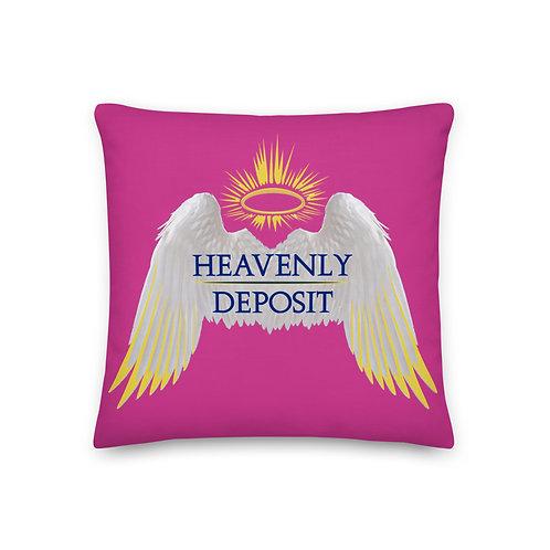 Heavenly Deposit Throw Pillow - 19 inch - Deep Cervise