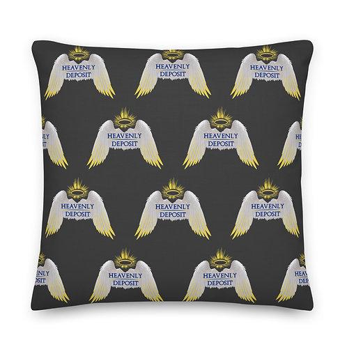 Designer Heavenly Deposit Throw Pillow 22 inch - Eclipse