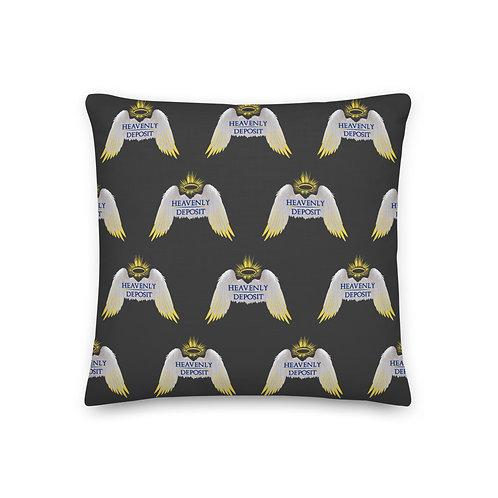 Designer Heavenly Deposit Throw Pillow 19 inch - Eclipse