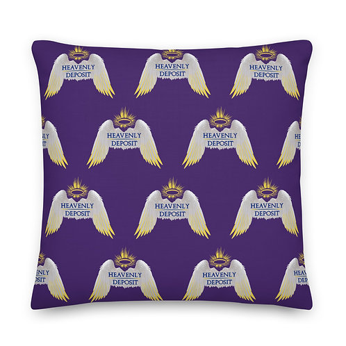 Designer Heavenly Deposit Throw Pillow 22 inch - Purple