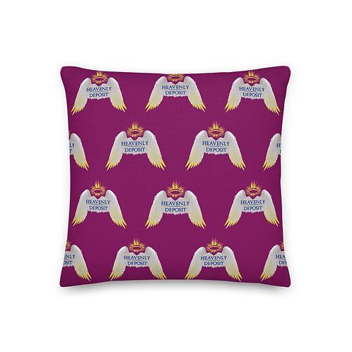 Designer Heavenly Deposit Throw Pillow 19 inch - Egglant