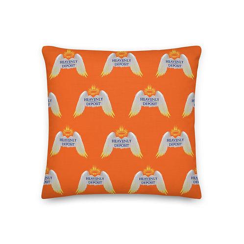 Designer Heavenly Deposit Throw Pillow 19 inch - Orange