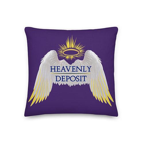 Heavenly Deposit Throw Pillow 19 inch - Purple