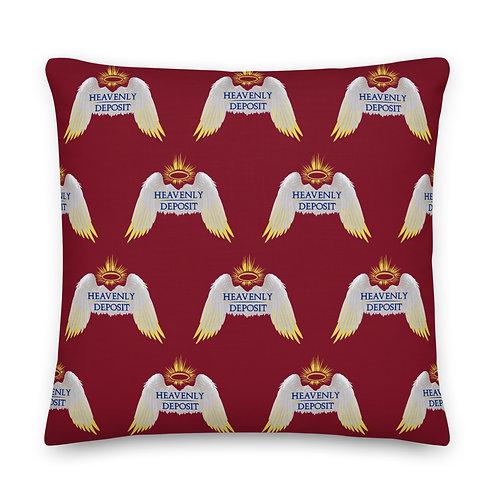 Designer Heavenly Throw Pillow 22 inch - Burgundy
