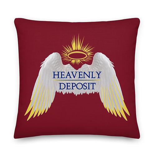 Heavenly Deposit Throw Pillow 22 inch - Burgundy