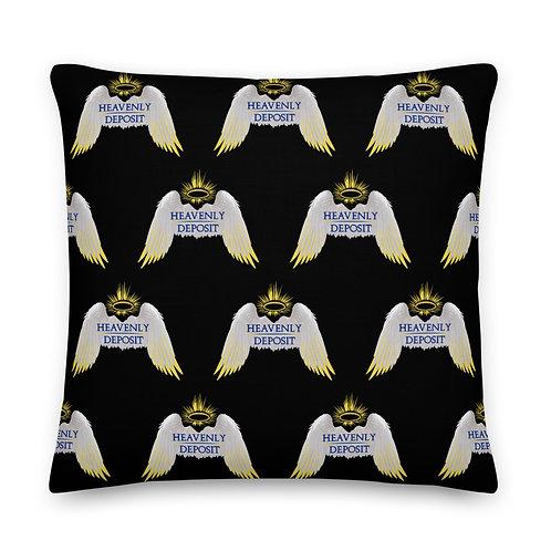 Designer Heavenly Deposit Throw Pillow 22 inch - Black