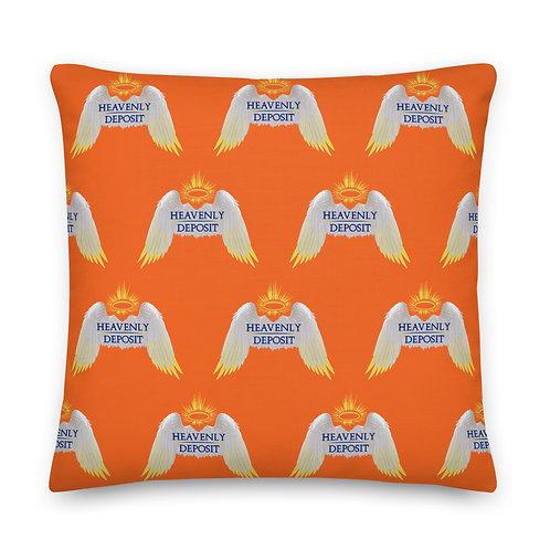 Designer Heavenly Deposit Throw Pillow 22 inch -  Orange