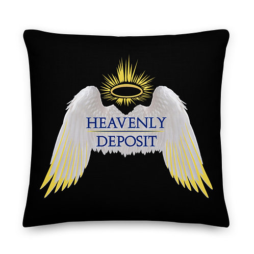 Heavenly Deposit Throw Pillow 22 inch - Black