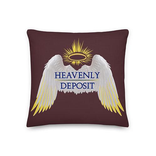 Heavenly Deposit Throw Pillow - 19 inch - Cab Sav