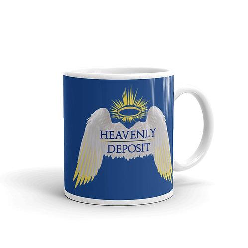 Heavenly Deposit 11 oz Mug - Dark Cerulean