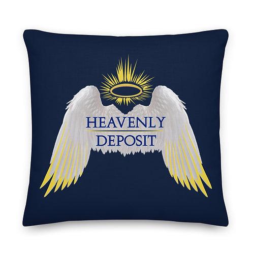 Heavenly Deposit Throw Pillow 22 inch - Navy
