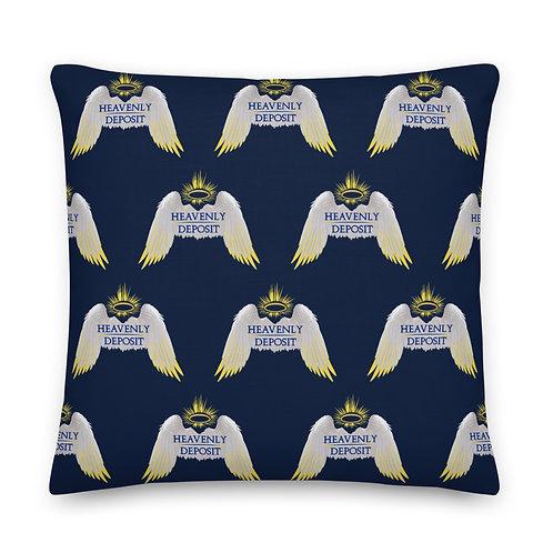 Designer Heavenly Deposit Throw Pillow 22 inch - Navy