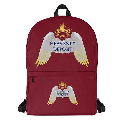 Trendy Heavenly Deposit Backpack - Burgundy